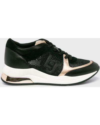 Кроссовки на платформе текстильные черный Liu Jo
