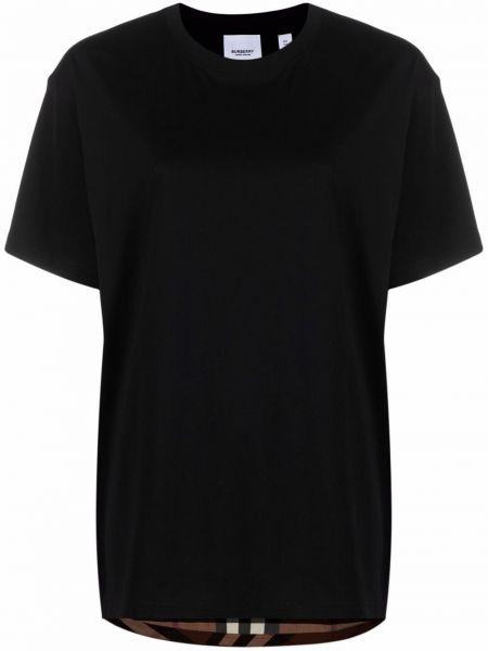 Черная футболка с вырезом Burberry