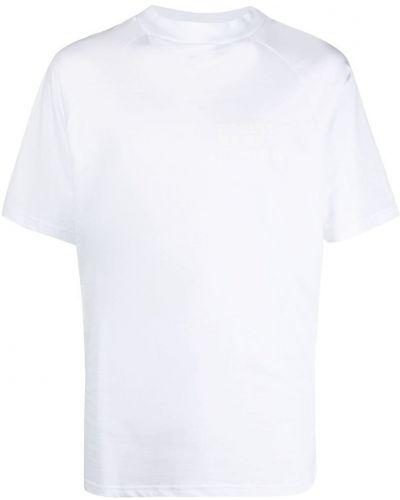 Biały t-shirt bawełniany z printem Omc
