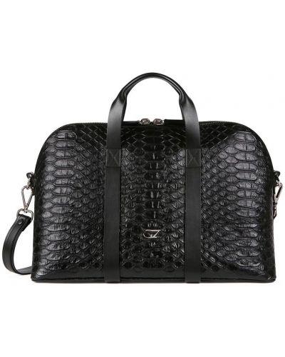 Czarny z paskiem torba na ramieniu z prawdziwej skóry za pełne Giuseppe Zanotti