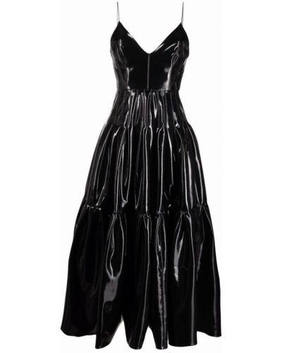 Czarna sukienka długa bez rękawów Alex Perry