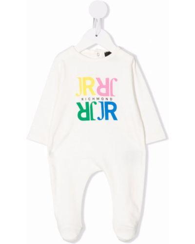 Piżama z długimi rękawami - biała John Richmond Junior