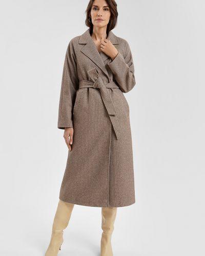 Пальто с поясом - бежевое O'stin
