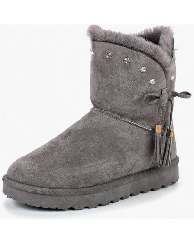 Полусапожки замшевые серые Max Shoes
