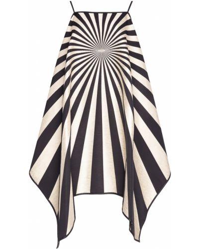 Платье в полоску - черное Gareth Pugh