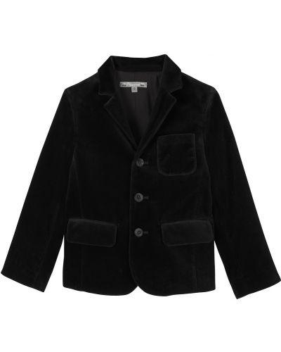 Пиджак бархатный черный Bonpoint