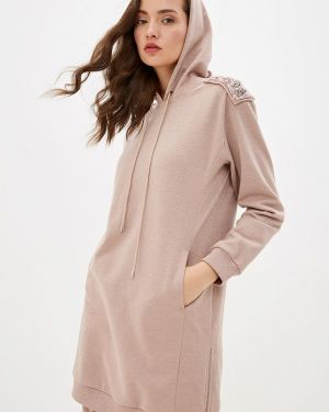 Платье розовое платье-толстовка Lusio