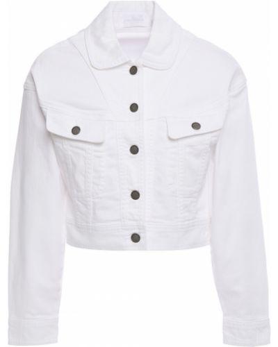 Białe jeansy zapinane na guziki bawełniane Zimmermann