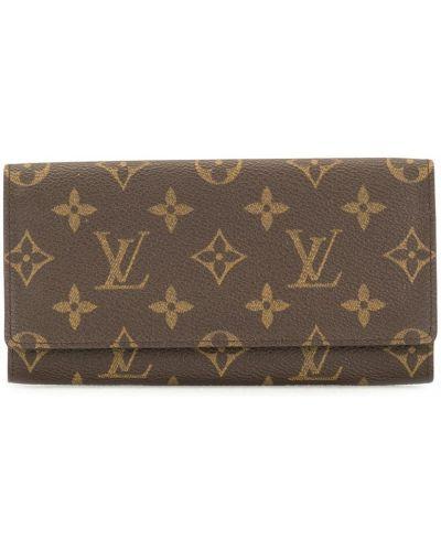 Коричневый кошелек с карманами прямоугольный Louis Vuitton