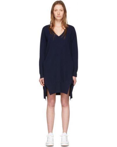 Платье макси вязаное с V-образным вырезом Stella Mccartney