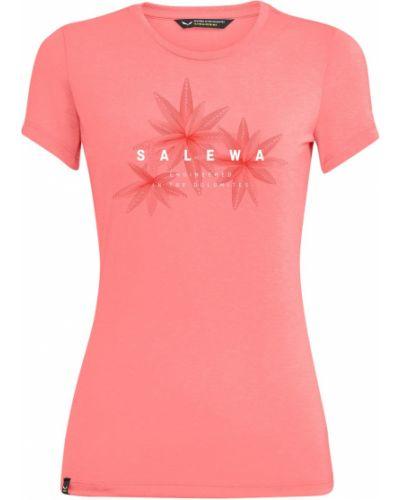 Мягкая трикотажная розовая футболка Salewa