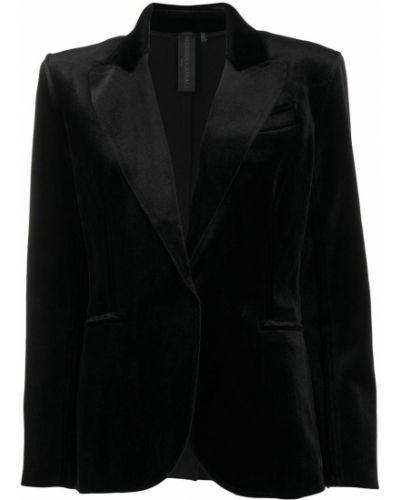 Пиджак черный с накладными карманами Norma Kamali