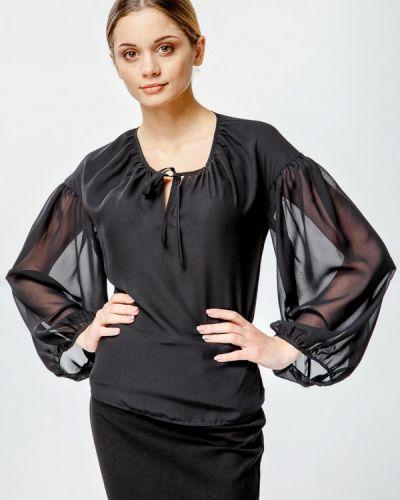 Блузка с длинным рукавом черная Nai Lu-na By Anastasia Ivanova