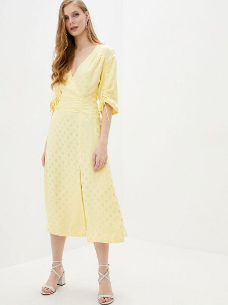 Желтое повседневное платье Three Floor