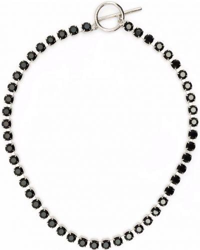 Choker srebrny - czarny Isabel Marant
