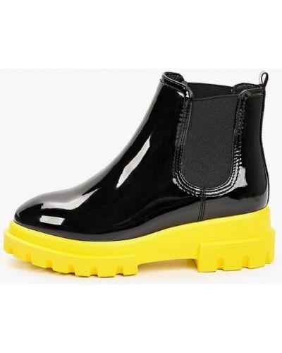 Черные лаковые кожаные ботинки Keddo