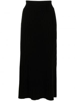 Трикотажная юбка миди - черная Cashmere In Love
