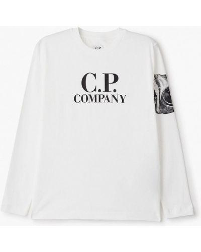 Белый лонгслив C.p. Company