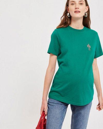 Зеленое поло турецкое Topshop Maternity