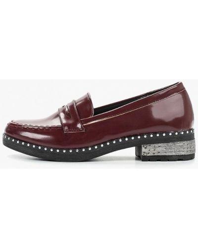 Лоферы красные на каблуке Catisa