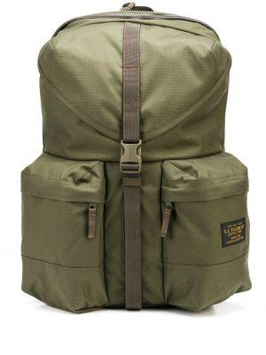 Zielony plecak z klamrą z nylonu Filson
