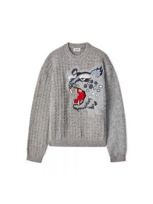 Sweter moherowy z haftem Kenzo