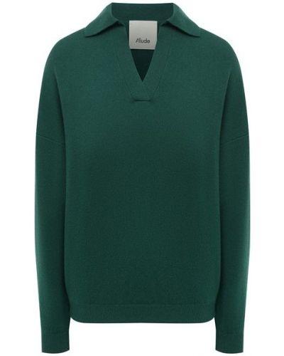 Трикотажный пуловер - зеленый Allude