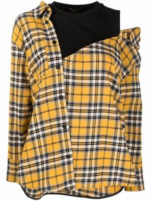 Рубашка в клетку - желтая Maje