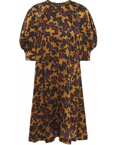 Расклешенное шелковое платье на пуговицах Mcq Alexander Mcqueen