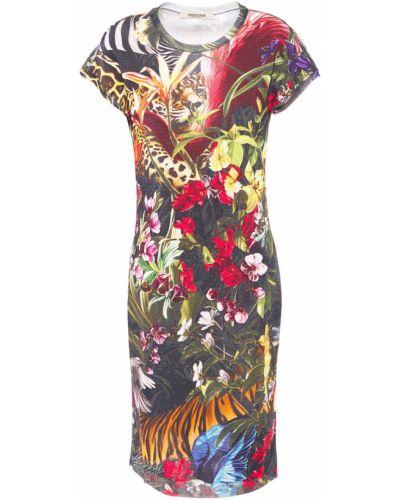 Вязаное платье мини из вискозы Roberto Cavalli