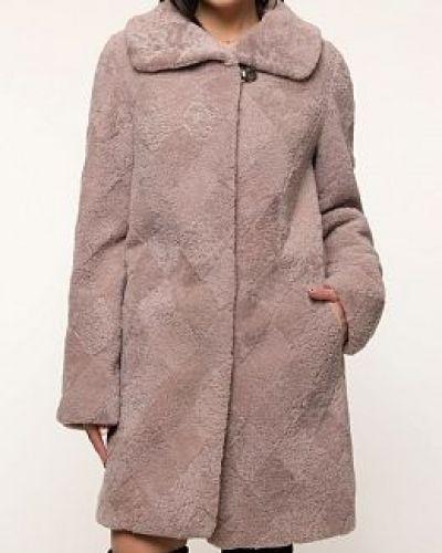 Пальто из овчины - розовое Dzhanbekoff