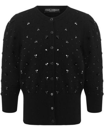 Кардиган черный ажурный Dolce & Gabbana