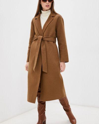 Коричневое демисезонное пальто Zolla