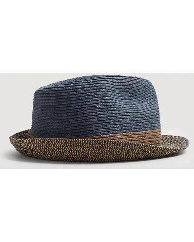 Шляпа синий темно-синий Mango Man