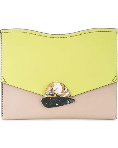 Żółta kopertówka srebrna Proenza Schouler