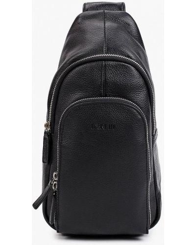 Черный кожаный рюкзак Fabretti