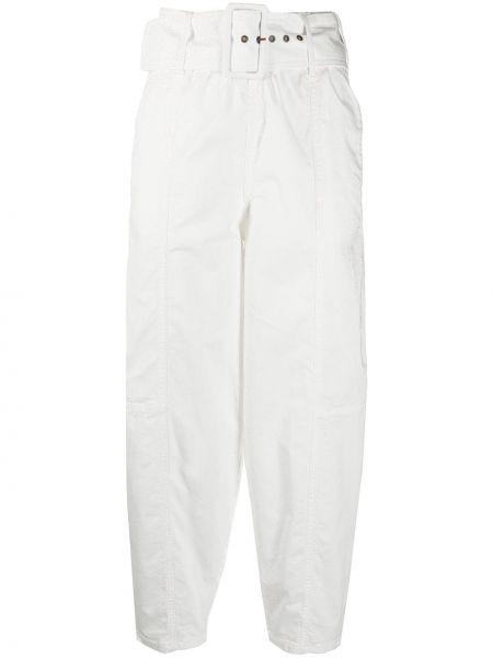 Белые зауженные брюки с поясом See By Chloé