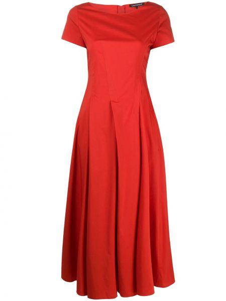 Плиссированное платье - красное Luisa Cerano