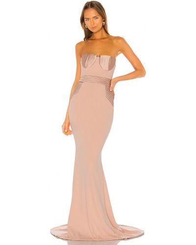 Różowa sukienka wieczorowa pikowana Zhivago