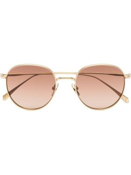 Прямые муслиновые желтые солнцезащитные очки круглые Kaleos
