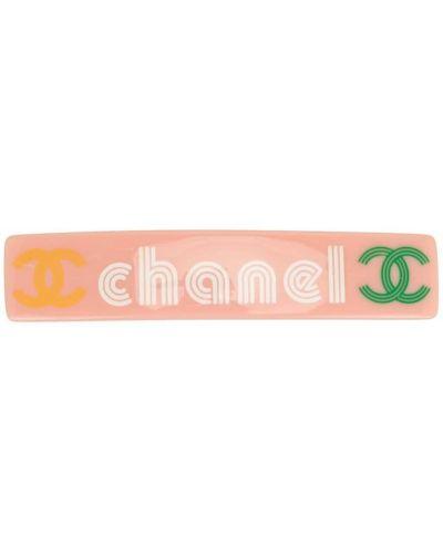 Różowy spinka do włosów Chanel Pre-owned