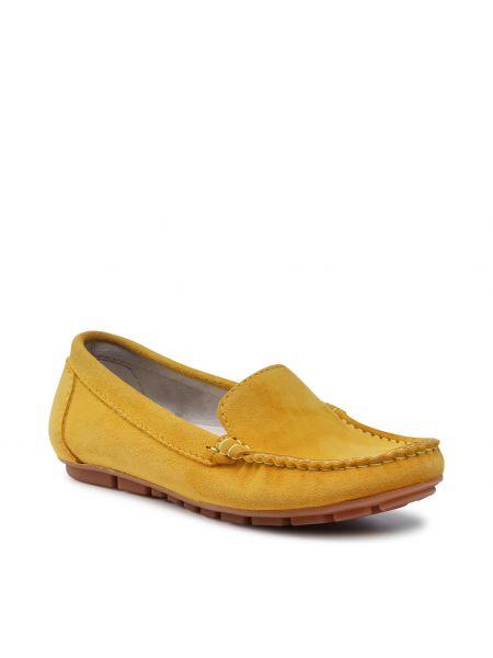 Żółte półbuty Nessi