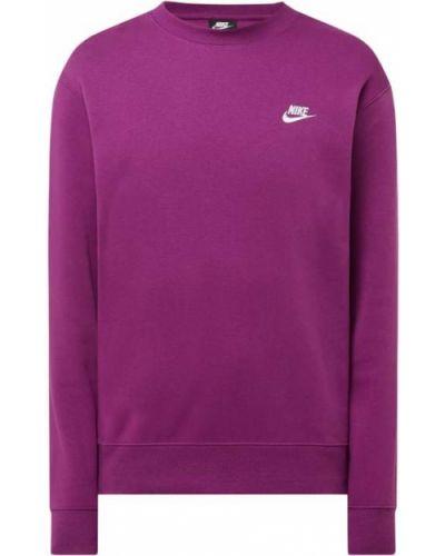 Prążkowana fioletowa bluza bawełniana Nike