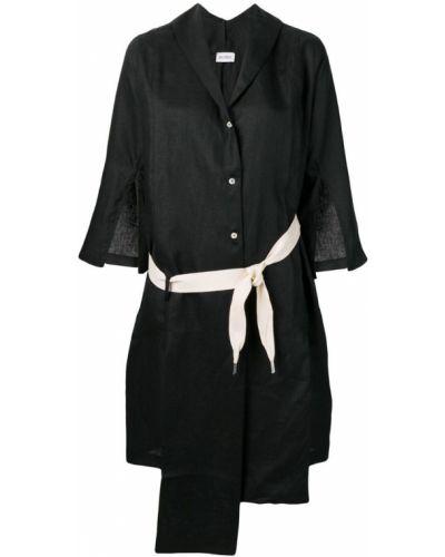 Черная классическая рубашка с разрезом Balossa White Shirt