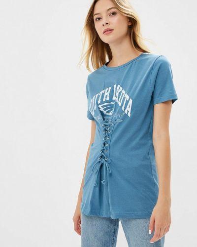 Голубая футболка Brave Soul