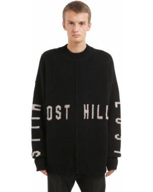 Czarny sweter wełniany oversize Yeezy