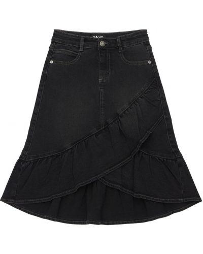 Джинсовая юбка с оборками на молнии эластичная Molo