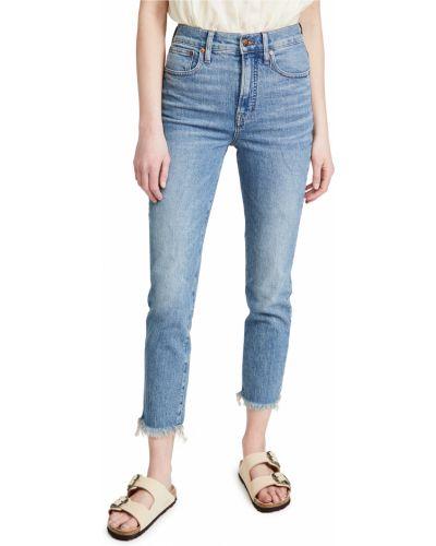 Синие с завышенной талией джинсы с карманами Madewell