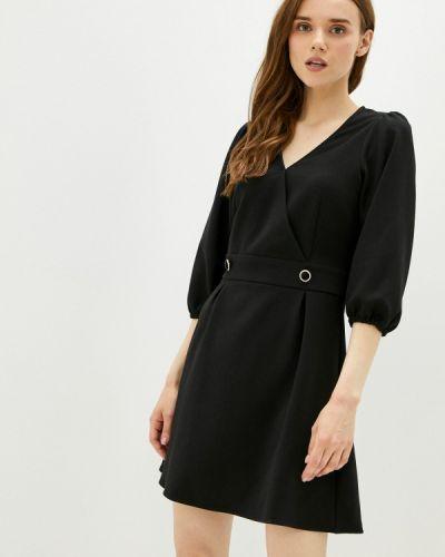 Черное платье с запахом Naf Naf