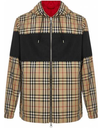 Beżowy płaszcz z kapturem z nylonu Burberry